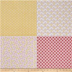 "Riley Blake Sew Cherry 2 Fat Quarter 35.5"" Panel Yellow"