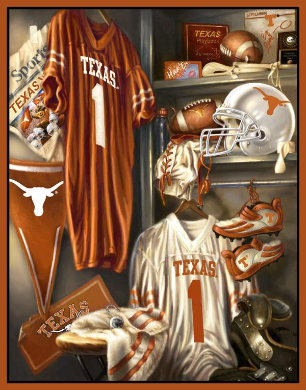 Collegiate Locker Room Fleece Panel University Of Texas