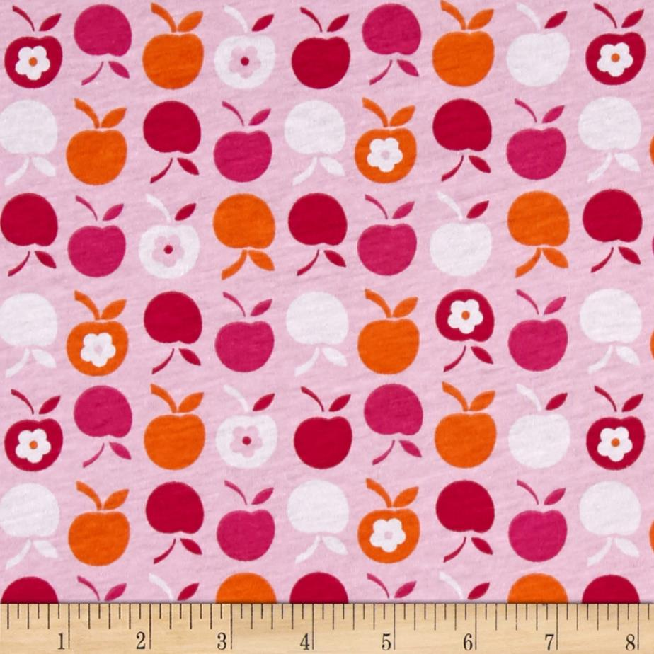 Cotton blend children 39 s jersey knit apples discount for Children s cotton dress fabric