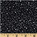 Woodsy Winter Metallic Snow Dots Black/Silver