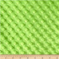"Minky Cuddle Dimple Dot 90"" Dark Lime"