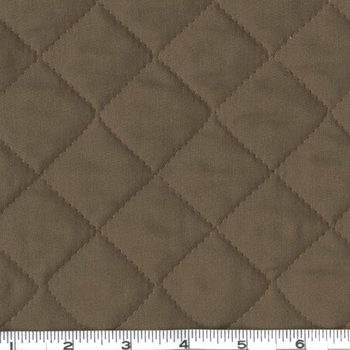 Double-Sided Quilted Broadcloth Brown