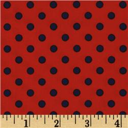 Michael Miller Dumb Dot Twilight/Orange Fabric