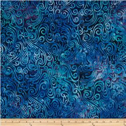 Batavian Batiks Swirly  Waves Navy