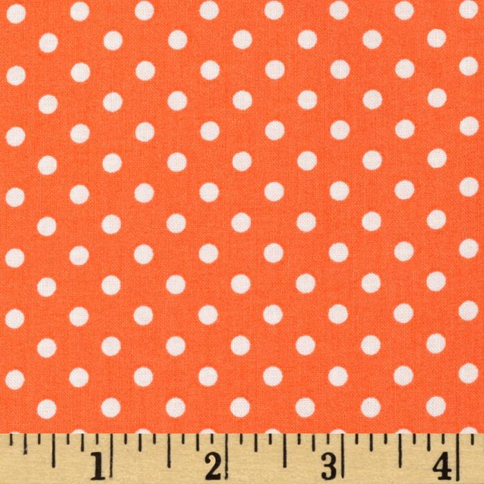 Aunt Grace Dots Orange