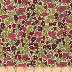Liberty Of London Tana Lawn Poppy and Daisy Green