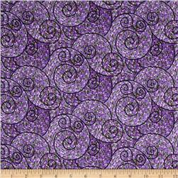 Our House Mosaic Swirls Purple