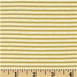 Cloud 9 Organics Stripe Interlock Knit Citron