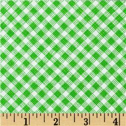 Timeless Treasures Sketch Gingham Green