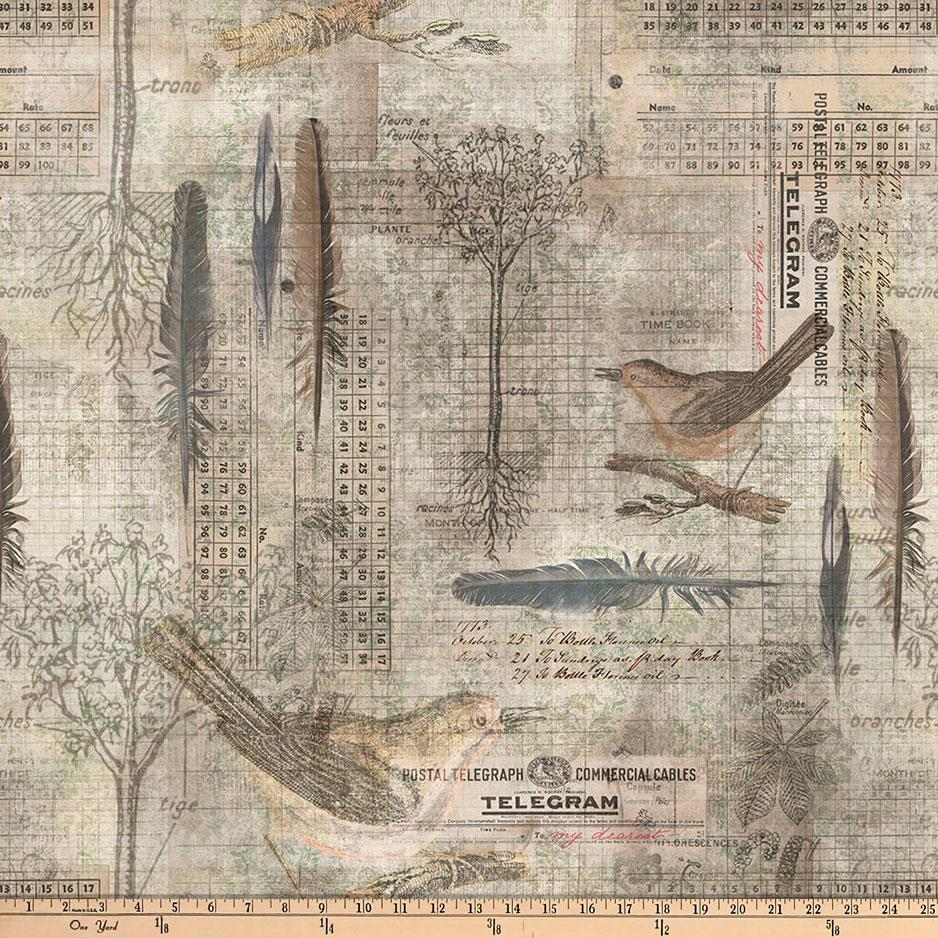 Tim Holtz Eclectic Elements Wallflower Aviary Multi