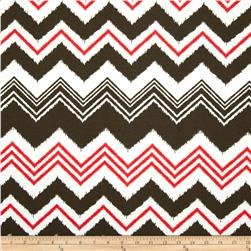 Premier Prints Indoor/Outdoor Zazzle Bay Brown Fabric