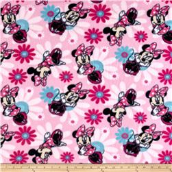 Disney Minnie Mouse Fleece Minnie Poses Pink