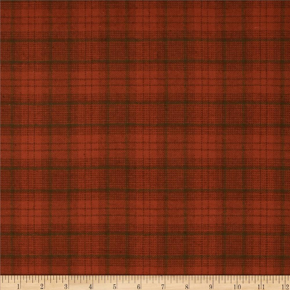 Primo Plaids Flannel Small Plaid Orange/Green