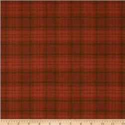 Primo Plaids Flannel Small Plaid Orange/Green Fabric