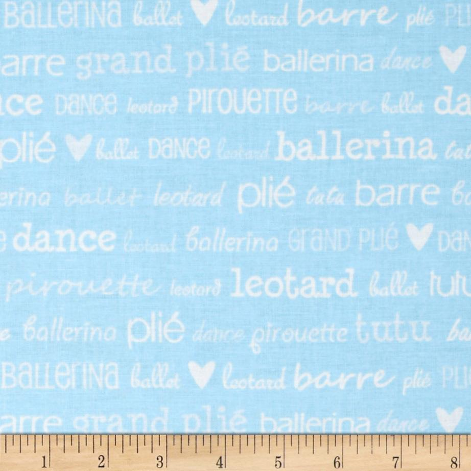 Tutu Cute Ballet Words Blue