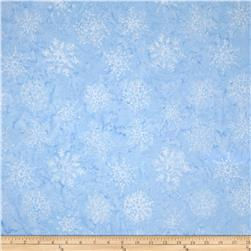 Timeless Treasures Tonga Batiks Snow Angel Snowflakes Frost