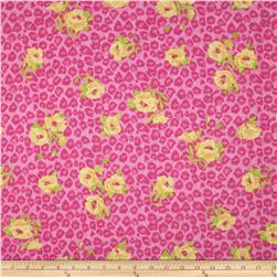 Onion Skin Knit Floral Leopard Pink/Yellow