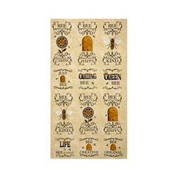 Moda Bee Creative Bee 24 In. Panel Honey