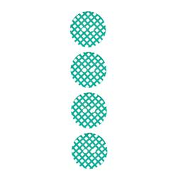 "Riley Blake Sew Together 1"" Gingham Button Teal"
