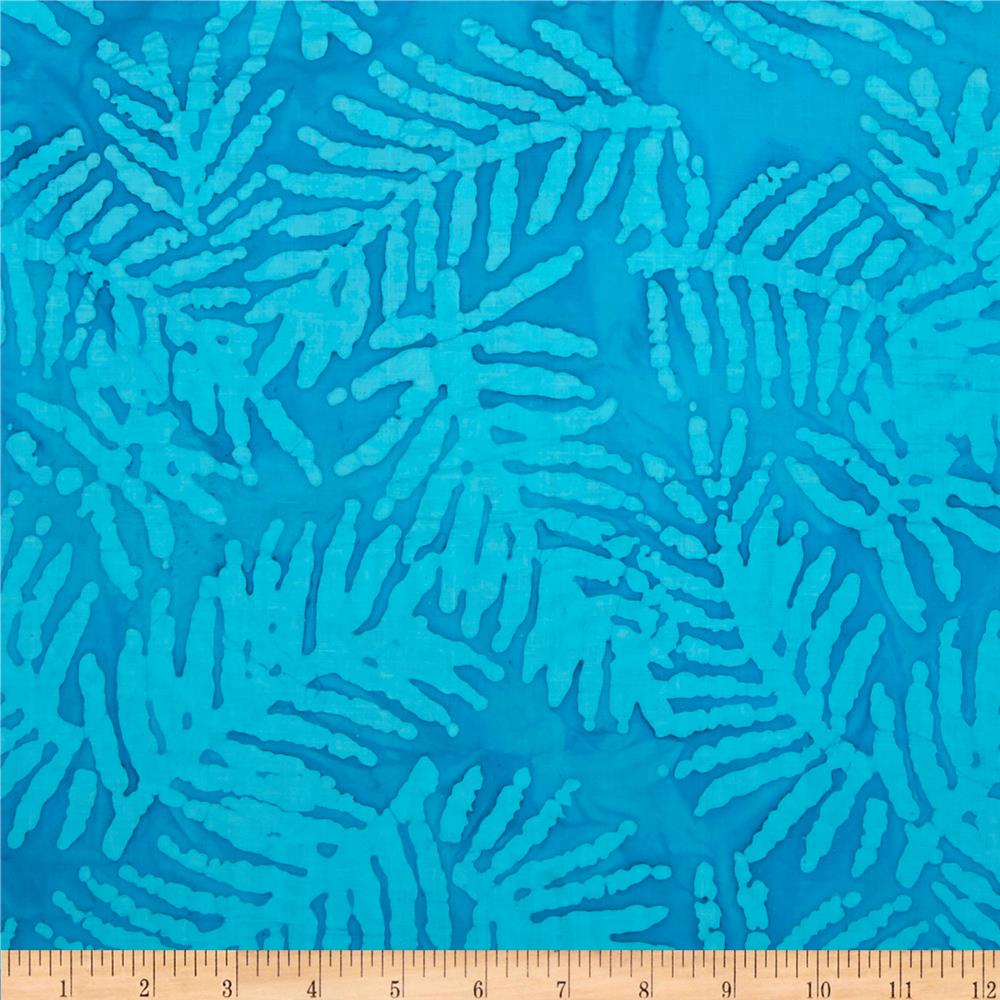 Indian Batik Corfu Palm Turquoise