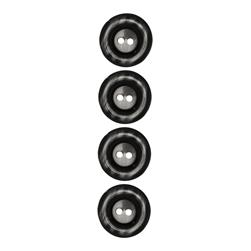 "Riley Blake Sew Together 1"" Pearl Button Black"
