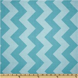 Riley Blake Chevron Large Tonal Aqua