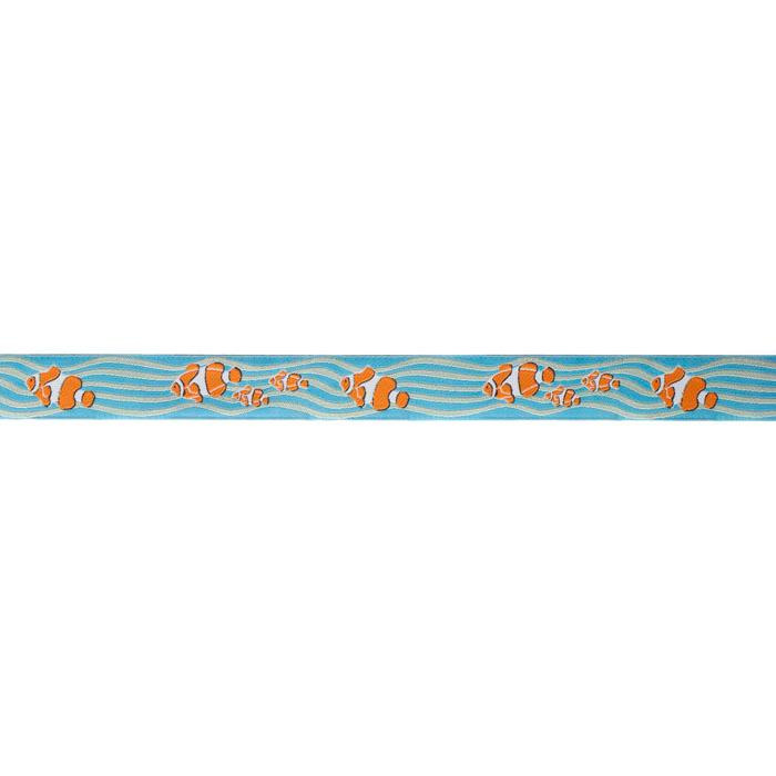 7/8'' Ribbon Clown Fish Aqua/Orange
