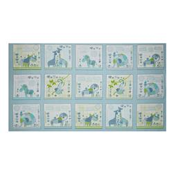 "Patchwork Pals Patchwork 25"" Panel Blue"