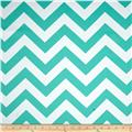 RCA Chevron Blackout Drapery Fabric Jade