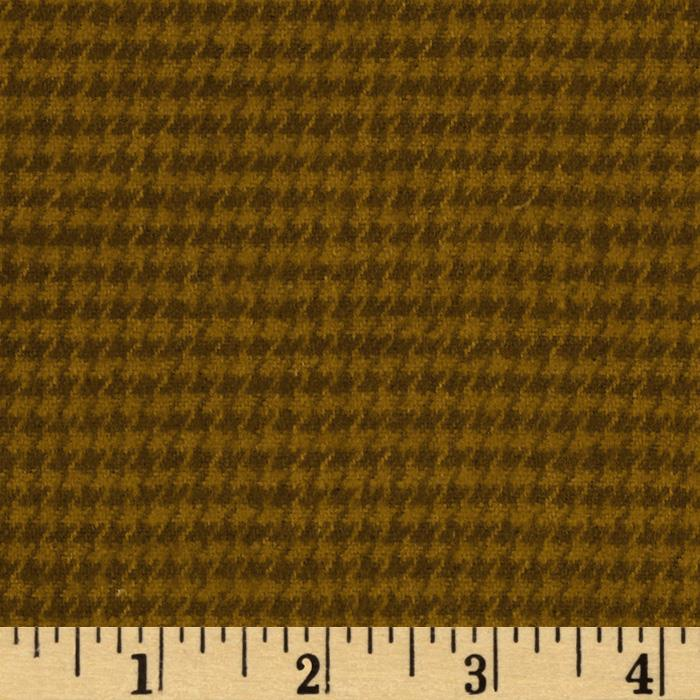 Primo Plaids Flannel Yarn Dyed Houndstooth Small Rust