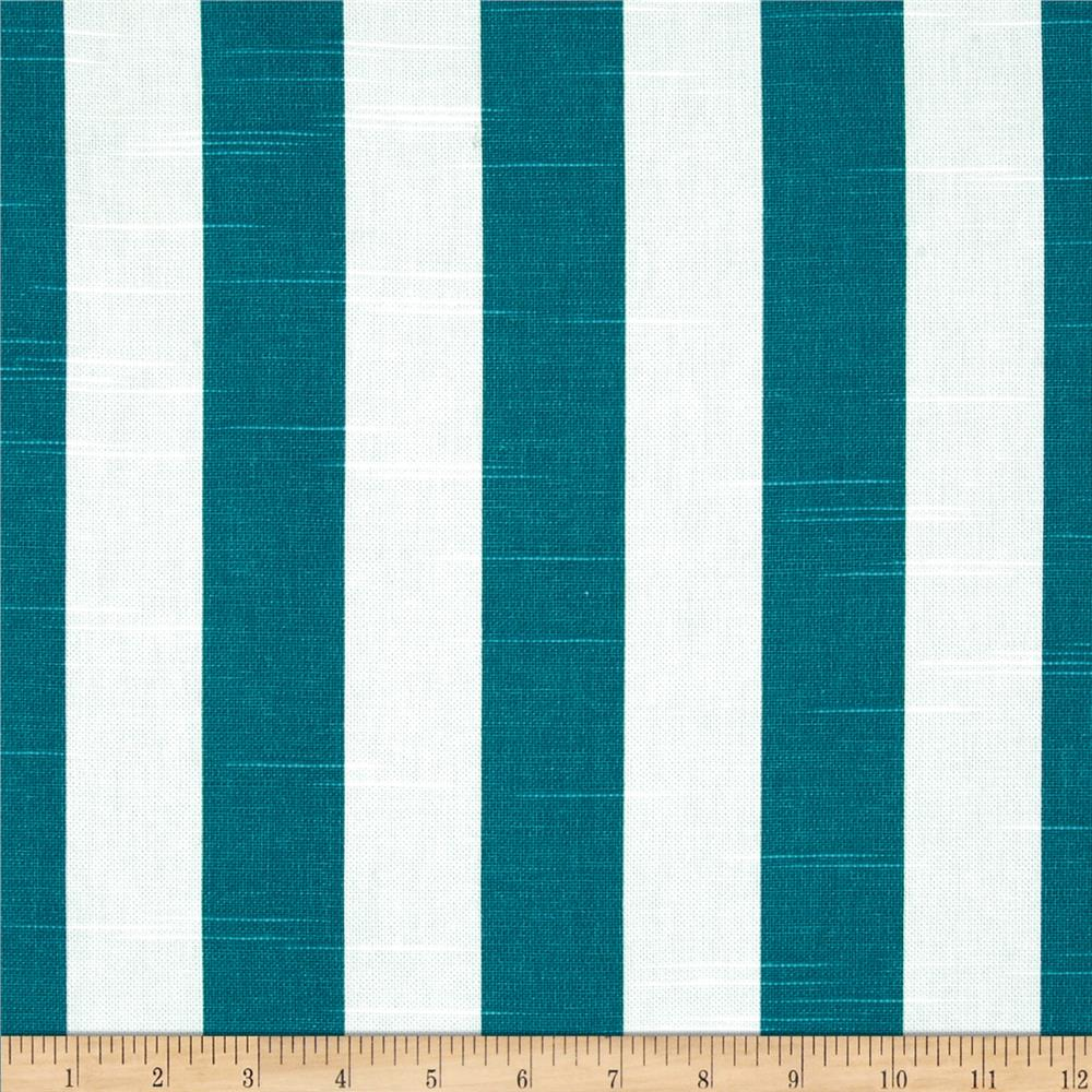 Premier Prints Canopy Stripe Slub Aquarius