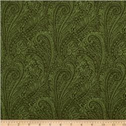 "118"" Wide Lauren Paisley Green"