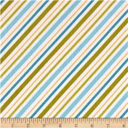Riley Blake Happy Camper Flannel Stripe Blue