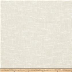 "Fabricut Bunkley 118"" Faux Linen Sheer Ivory"