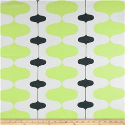 Premier Prints Ivon Stripe Kiwi/Charcoal Fabric