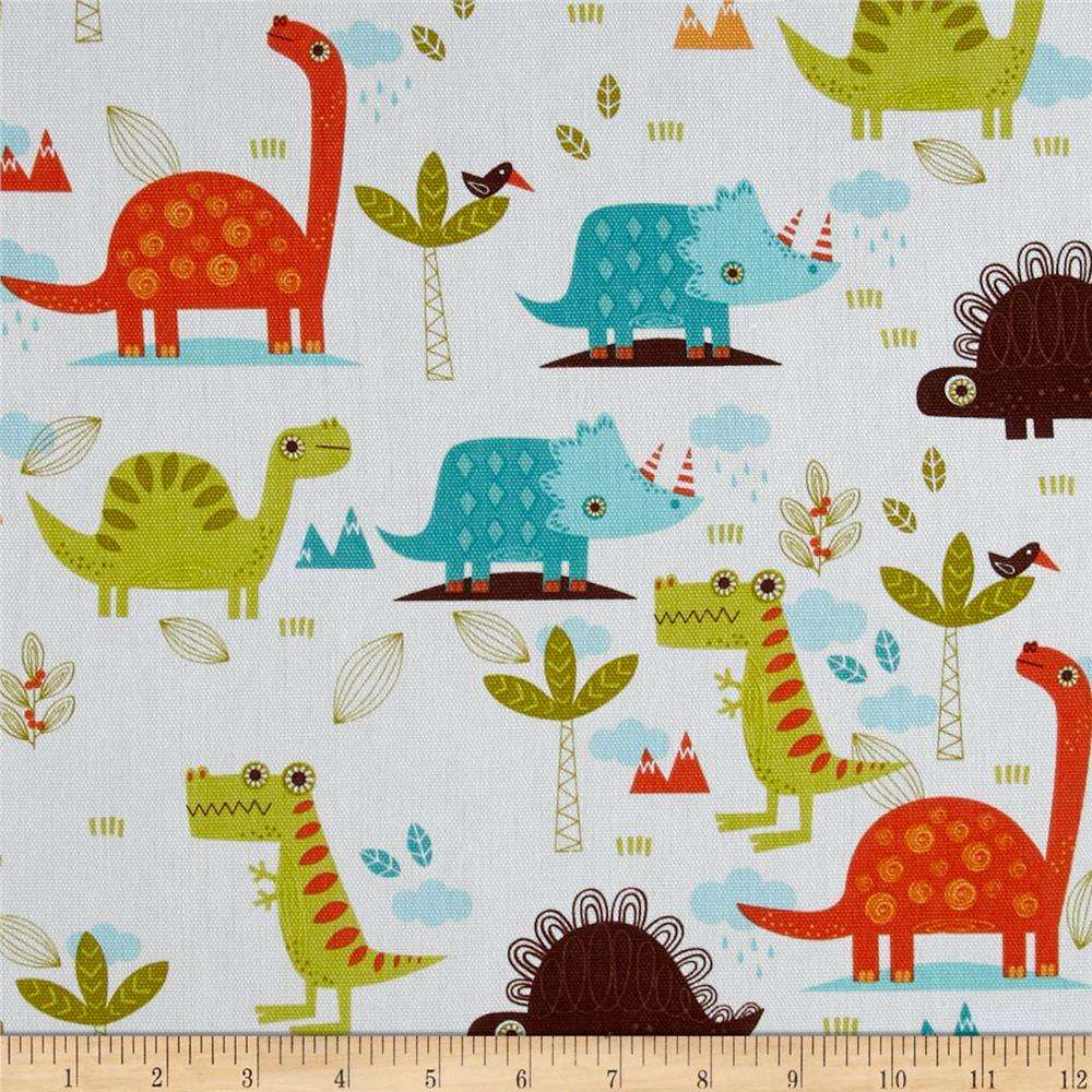 Riley blake home decor dinosaur cream discount designer for Dinosaur fabric