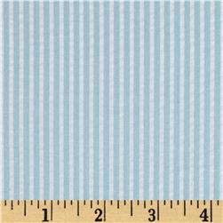 Yarn-Dyed Seerscker Stripe Mint Blue/White