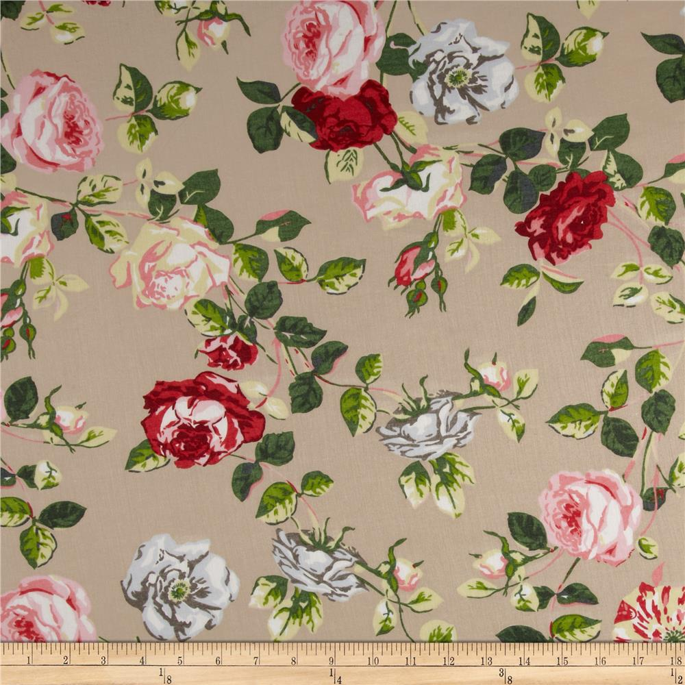 Cotton Voile Rose Tan/Pink/Green/White