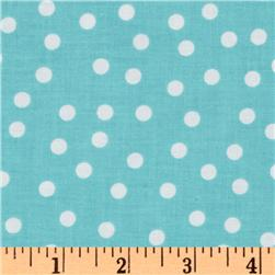Remix Polka Dots Aqua Fabric