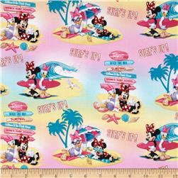 Disney Minnie Mouse & Daisy Surf's Up Pink