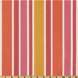 Richloom Solarium Outdoor Sheers Voile Union Stripe Primrose