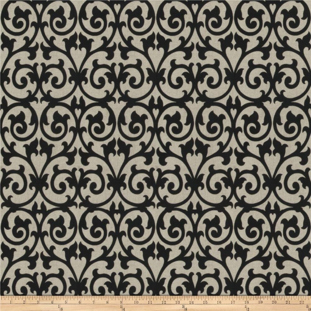 Fabricut Ezekiel Scroll Onyx