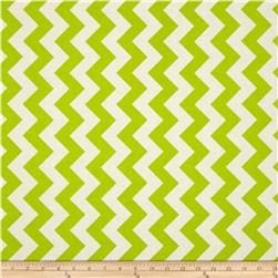Riley Blake Le Creme Basics Chevron Lime/Cream Fabric
