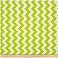 Riley Blake Le Creme Basics Chevron Lime/Cream