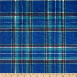 Minky Classic Plaid Navy Fabric