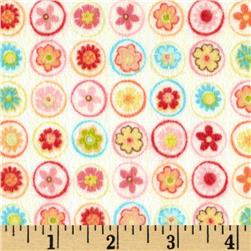 Riley Blake Happy Flappers Flannel Circles Cream