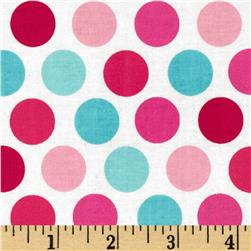 Riley Blake Lovey Dovey Laminated Cotton Dots Blue