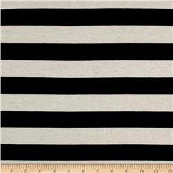 Jersey Knit Stripe Black/Oat