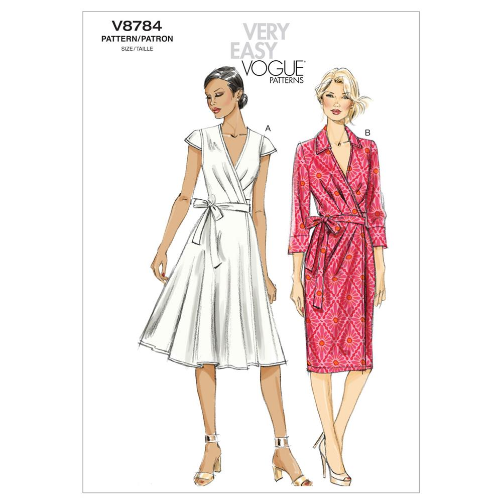 Vogue Misses' Dress Pattern V8784 Size A50
