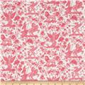 Liberty of London Tana Lawn Boadicea Hot Pink/Grey